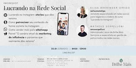 Workshop Lucrando na Rede Social ingressos