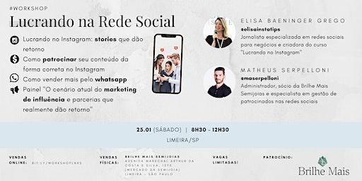 Workshop Lucrando na Rede Social