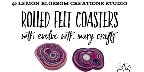 Sip & Craft Rolled Felt Coasters tickets