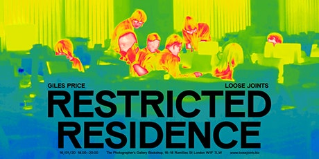 Giles Price 'Restricted Residence': Book launch and signing tickets