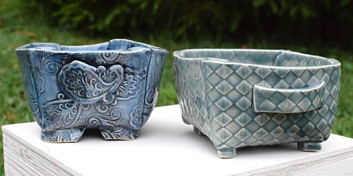 Create Two (2) Ceramic Footed Berry Bowls