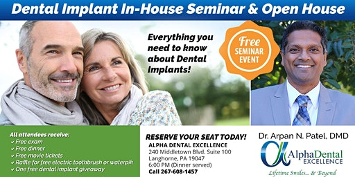 Free Dental Implant In-house Seminar - Alpha Dental Excellence
