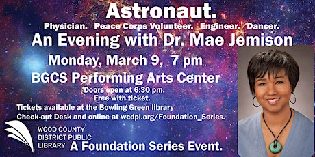 An Evening with Dr. Mae Jemison tickets