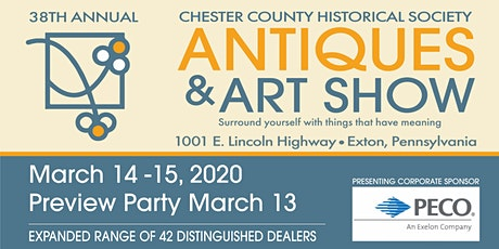 38th Annual Chester County Antiques and Art Show tickets