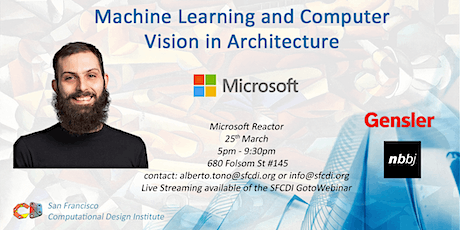 SFCDI March 2020  | Machine Learning and Computer Vision in Architecture Workshop at Microsoft tickets