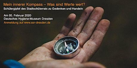Schülergipfel 2020: Mein innerer Kompass – Was sind Werte wert? Tickets