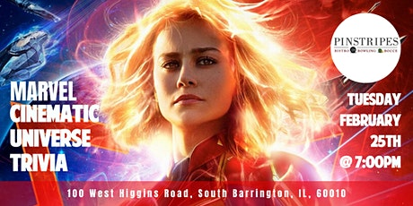 Marvel Cinematic Universe Trivia at Pinstripes South Barrington tickets