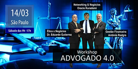 Workshop ADVOGADO 4.0 ingressos