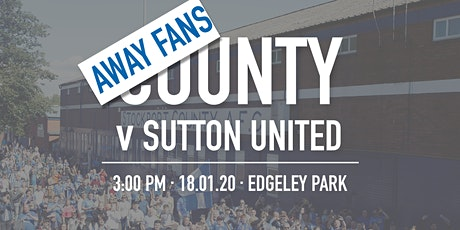 Away Fans - #StockportCounty vs Sutton United tickets