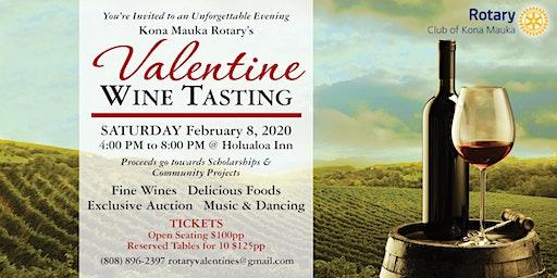 Kona Mauka Rotary's  2020  Valentine  Wine Tasting