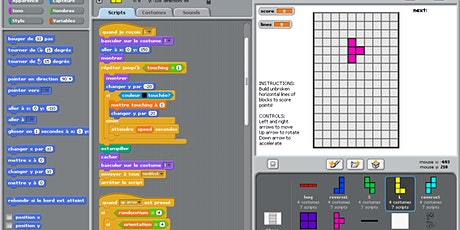 Scratch coding (Ages 10+) - video game design tickets