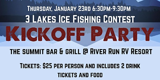 3 Lakes Ice Fishing Contest Kickoff Party