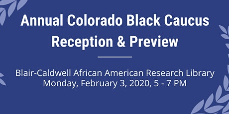 Annual Black Caucus Legislative Preview & Reception tickets