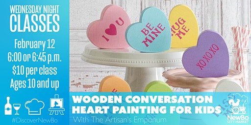 Wooden Conversation Heart Painting for Kids!