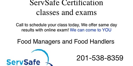 Myrtle Beach ServSafe Food Managers and Food Handler Class and Exam tickets