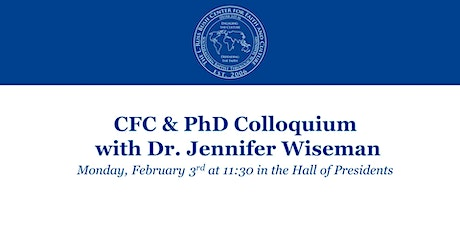CFC & PhD Colloquium with Dr. Jennifer Wiseman tickets