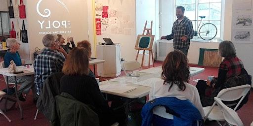 Gum and ink painting taster workshop