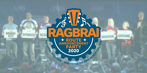 2020 RAGBRAI Route Announcement Party