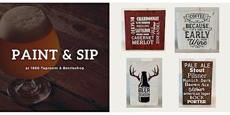 Paint & Sip | Create a Custom Wood Sign tickets