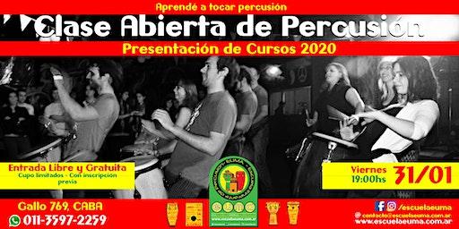 Clase Abierta de Percusión - Escuela EUMA - Presentación Curso 2020