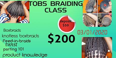 Basic African Braiding class tickets