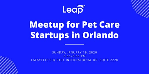Meetup for Pet Care Startups in Orlando