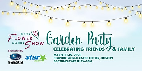 Boston Flower & Garden Show tickets