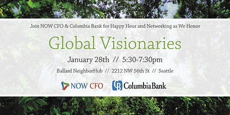 Join NOW CFO & Columbia Bank to honor Global Visionaries tickets