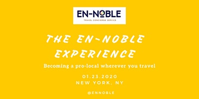 PRE-New York Times Travel Show Event - #Pro-localTravel #CulturalTourism