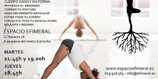 Clases de yoga en Espacio Efimeral