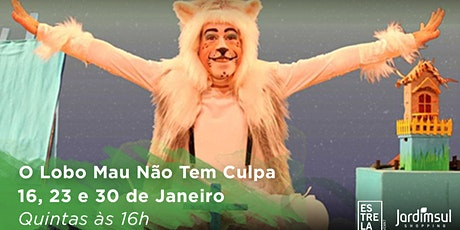 """Desconto! Espetáculo """"O Lobo Mau não Tem Culpa"""" no Teatro Jardim Sul ingressos"""