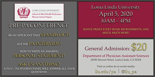 LLU's 3rd Annual Pre-PA Conference