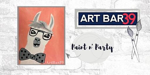 Paint & Sip | ART BAR 39 | Public Event | No Drama Llama!