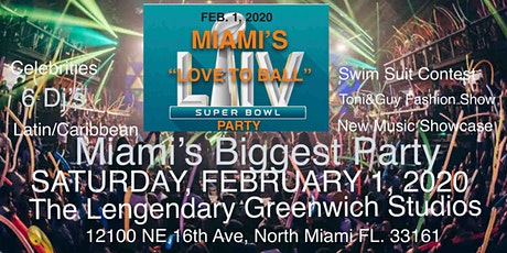 """""""LOVE TO BALL"""" MIAMI SUPER BOWL PARTY  tickets"""