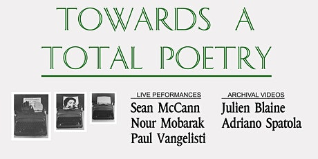 Towards A Total Poetry tickets