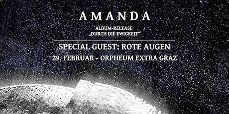 Amanda - Album-Releasekonzert | Special Guest: Rote Augen - Orpheum Extra Tickets