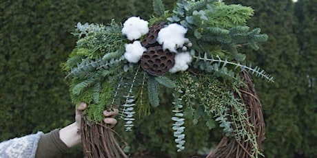 Winter Evergreen Wreaths at Tualatin Estate Vineyard with Alice's Table tickets