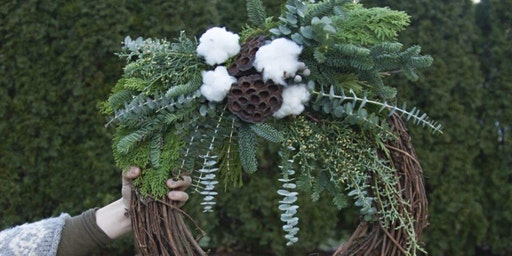 Winter Evergreen Wreaths at Tualatin Estate Vineyard with Alice's Table