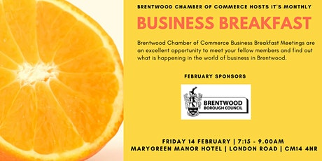 February 2020 Brentwood Chamber of Commerce Business Breakfast tickets