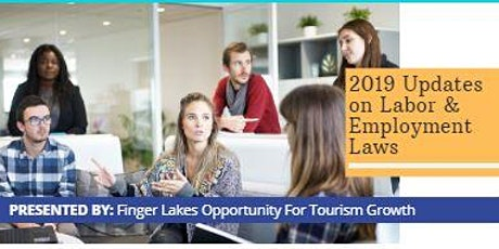 Finger Lakes Opportunity for Tourism Growth: 2019 Employee Legal Updates tickets