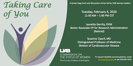 Taking Care of You, hosted by the UAB Commission on the Status of Women