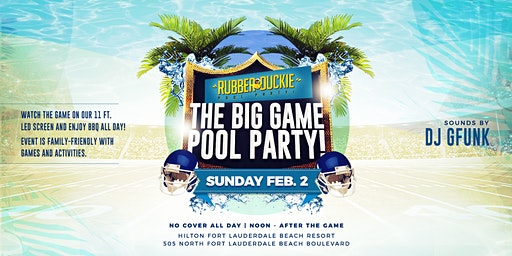 The Big Game Pool Party // Hilton Ft Lauderdale Beach