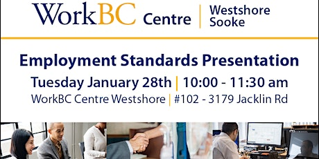 Employment Standards Presentation tickets