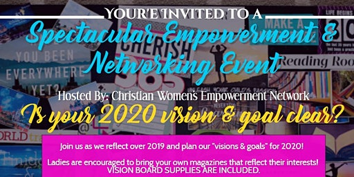 """2020 """"Clear Vision"""" Spectacular Empowerment & Networking Event"""