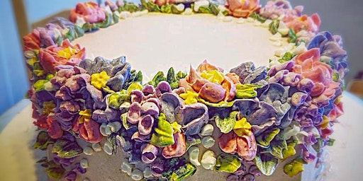 Mini Cakes with Swiss Meringue Buttercream Flowers $85