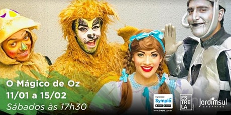 "DESCONTO! Espetáculo ""O Mágico de Oz"" no Teatro Jardim Sul ingressos"