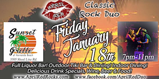 April Red LIVE at Sunset Grill on Hernando Beach!