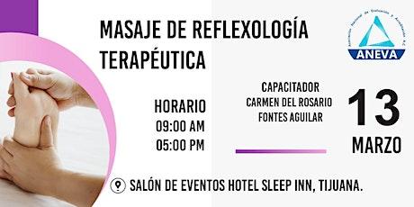 MASAJE DE REFLEXOLOGIA TERAPEUTICA boletos