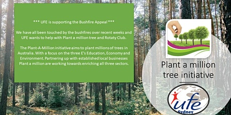 Rebuild after bushfires - UFE & Plant a million tree tickets
