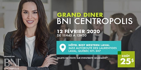 Grand Diner BNI Centropolis billets